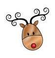 happy cartoon christmas reindeer character vector image vector image