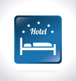 Hotel design over white background vector image