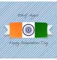 India Independence Day national Badge vector image vector image