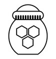 jar of honey icon outline style vector image vector image