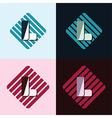Letter L logo vector image vector image