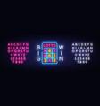 lottery neon logo lotto neon sign design vector image