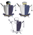 Medieval knights armor and weapons vector image