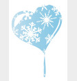 melting ice heart vector image vector image