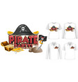 mock up shirt with pirate party icon vector image