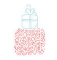 monoline calligraphy phrase happy love day vector image
