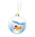 New Years Sphere With Goldfish vector image vector image