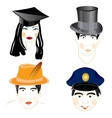 Persons of the people in headdresses vector image vector image