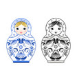 pictures russian matryoshka painted at vector image