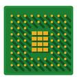 processor icon cartoon style vector image