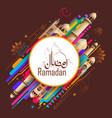 ramadan kareem generous ramadan greetings in vector image vector image