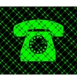Retro telephone Flat modern web button and space vector image vector image