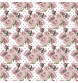 Roses Vintage pattern dotted card vector image