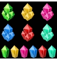 set colorful crystals vector image vector image