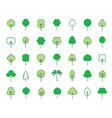 set green tree icon vector image