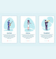 set musicians playing on musical instruments vector image