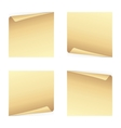 Set of note papers vector image vector image
