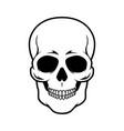 skull design element for logo emblem sign poster vector image vector image