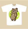 t-shirt print design bear vector image vector image