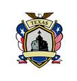 texas navy battleship flag icon vector image vector image