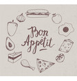 vintage food hand drawn vector image vector image