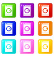 washing machine icons 9 set vector image vector image