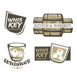 whiskey brewed and aged in casks and scotch vector image vector image