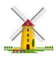 windmill isolated on white background vector image
