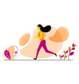 with running girl in flat vector image vector image