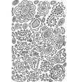 doodle psychedelic coloring page with abstract vector image