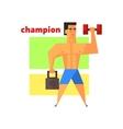 Man Champion Abstract Figure vector image