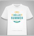 summer holidays typography tee shirt print vector image