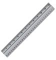 ruler isolated on white background Ruler Stainless vector image