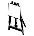 3d model of easel on a white vector image