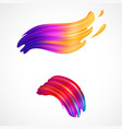 abstract colorful brush strokes on white vector image
