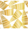 abstract golden collage seamless pattern vector image vector image