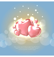 Background with Heart Shaped BalloonsTemplate of vector image