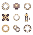 Bearings flat color icons vector image vector image