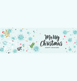 beautiful christmas banner with decorative vector image