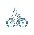 bicyclist web icon vector image