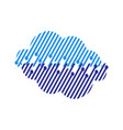 blue digital tech cloud logo design sign vector image vector image