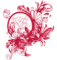 butterfly print fashion textil vector image vector image