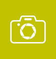 camera shape with shutter symbol colored vector image