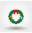 Christmas wreath Flat vector image