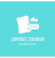 Corporate Stationary Concept Symbol Icon or Label vector image