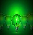 Creative Thinking Human Head Light Bulbs vector image