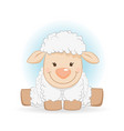 cute funny sheep cartoon character vector image