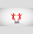 date couple in love design vector image vector image