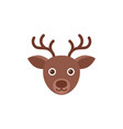 deer reindeer head christmas icon in flat design vector image vector image