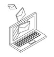 email and communication technology isometric vector image